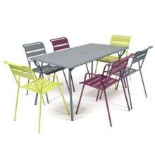 Economisez Salon De Jardin Fermob Monceau Table L Cm Chaises With Chaise