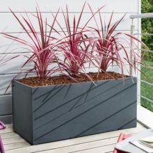 Bac à fleurs fibre de terre Clayfibre L100 H45 cm anthracite