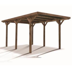 Carport bois traité Madeira Enzo 15,72 m²