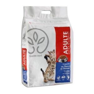 Croquettes pour chats adultes au Thon Saumon  7,5 kg
