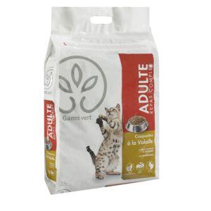 Croquettes pour chats adultes à la Volaille Gamm vert 7,5 kg