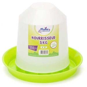 Nourrisseur plastique économique pour poules - 5kg