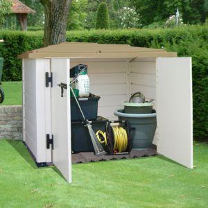 Petit abri de jardin résine PVC adossable 1 m² Ep. 22 mm Evo 100 1 ...