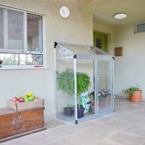 Serre de balcon ou terrasse adossée 0.91m2 polycarbonate - Palram