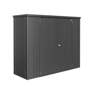 Armoire de jardin métal L155 H182,5 cm Biohort gris 155 x 83 x 182,5 ...