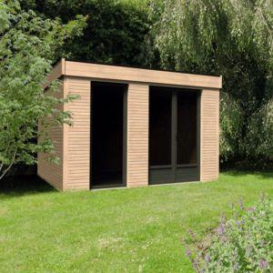 Piece A Vivre Au Jardin Bois Toit Plat 24 70 M Ep 90 Mm Decor Home