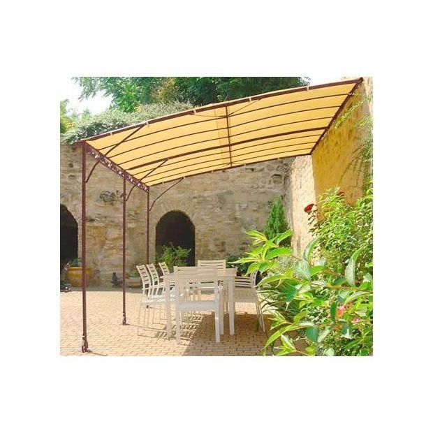 toile d 39 ombrage pour tonnelle adoss e 3 x 4 m s ville cartons gamm vert. Black Bedroom Furniture Sets. Home Design Ideas