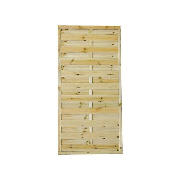 panneaux d coratifs lot de 10 droits en bois pour cl ture ou occultation 90x180 palette. Black Bedroom Furniture Sets. Home Design Ideas