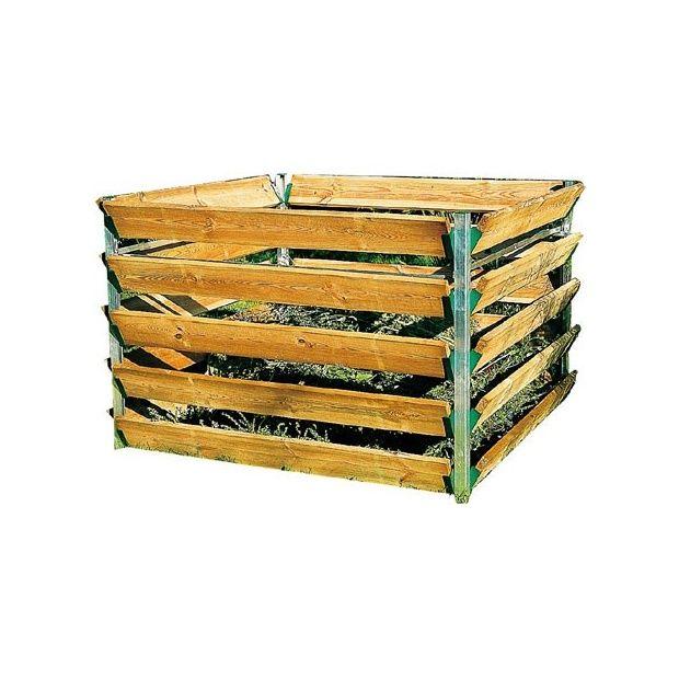 silo compost en bois 1550l beckmann carton gamm vert. Black Bedroom Furniture Sets. Home Design Ideas