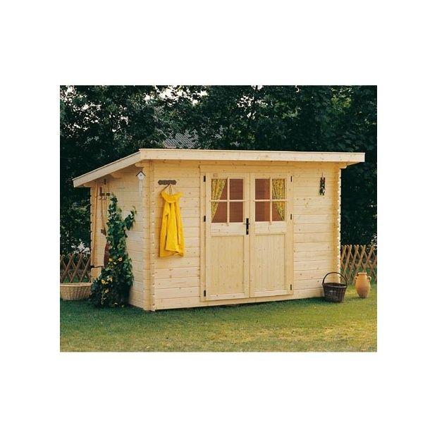 Abri de jardin en bois 28 mm utah m hors tout avec plancher 2 colis x x 0 - Abri de jardin en bois avec plancher ...