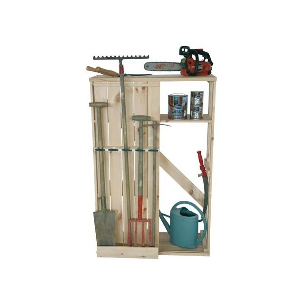armoire de rangement outils de jardin s o carton livr en kit facile monter gamm vert. Black Bedroom Furniture Sets. Home Design Ideas