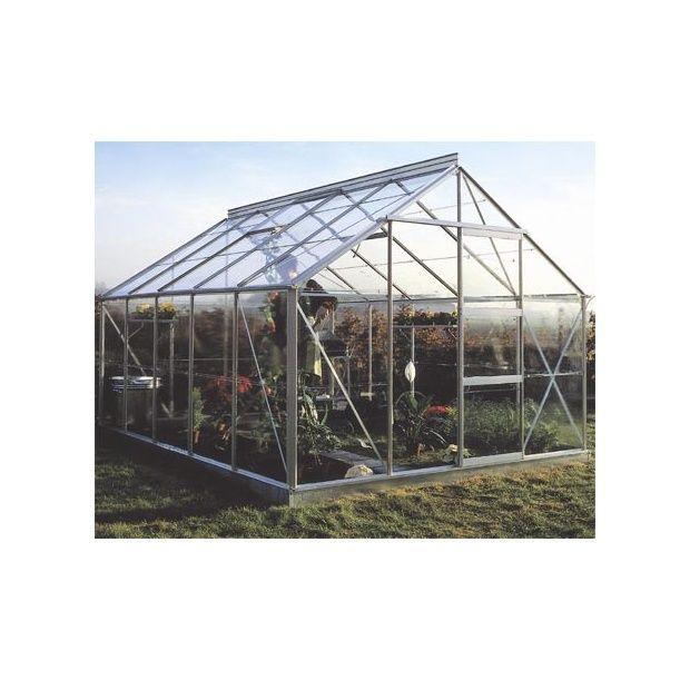 Serre de jardin 10m hors tout verre horticole sans - Serre de jardin en verre ...