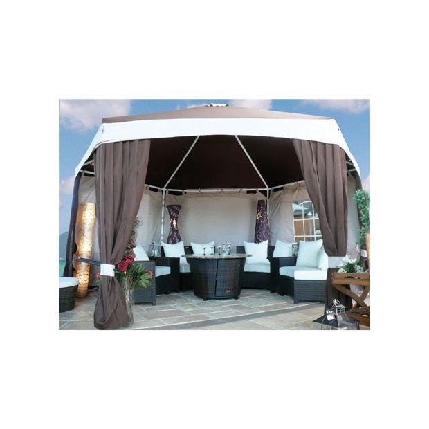 toile pour tonnelle aluminium hexagonale diam tre 3 50m cartons gamm vert. Black Bedroom Furniture Sets. Home Design Ideas