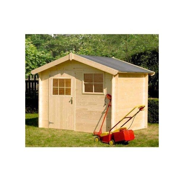 Abri de jardin 4.32 m² bois massif 19 mm PEFC 1 palette L 265 x l ...