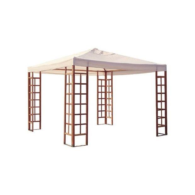 tonnelle carr e en bois 3x3 m cartons gamm vert. Black Bedroom Furniture Sets. Home Design Ideas