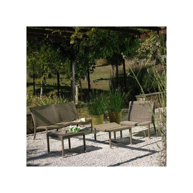 Salon De Jardin En Rsine Tresse De Qualit. Table De Jardin Haute Et ...