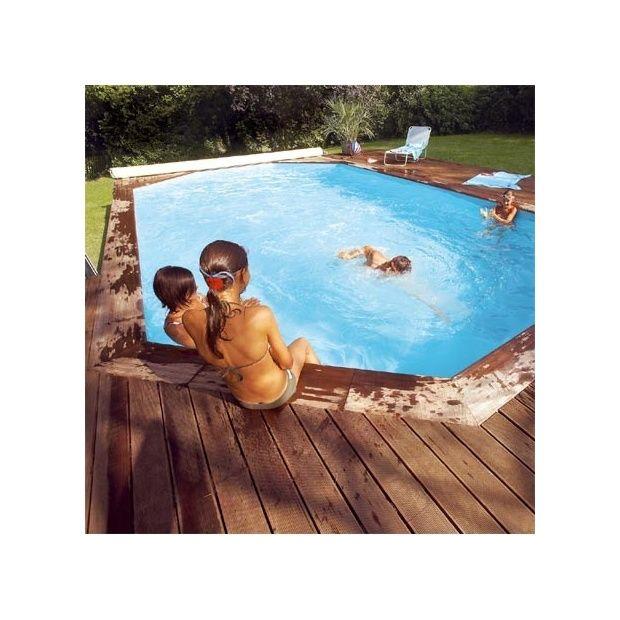 Piscine Bois Octo+ Pro Cerland   6.40m X 4m   Margelle Composite   Gamm Vert