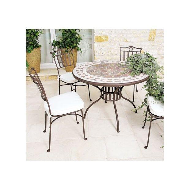 Table de jardin mosaique en marbre naturel 150 x 100 cm Carton ...