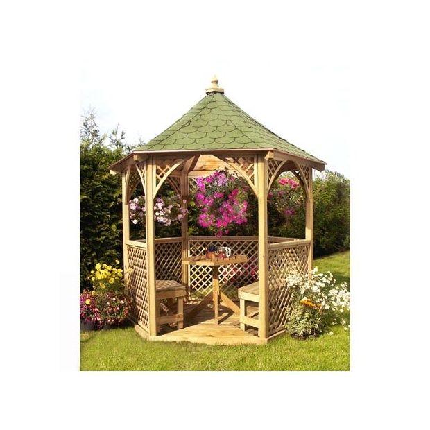 Beautiful kiosque de jardin en bois photos amazing house design - Kiosque de jardin castorama ...