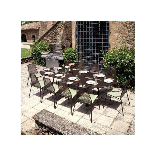 Fabulous table de jardin vera ovale extensible x x cm en - Table de jardin ovale extensible fort de france ...