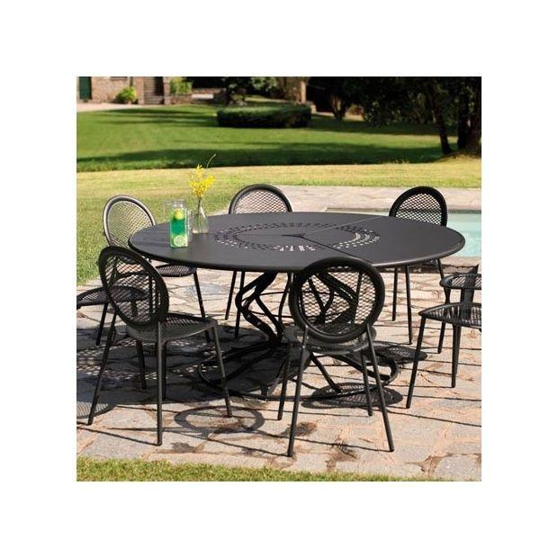Table De Jardin Ronde Metal. Table Ronde Moderne Elegant Table De ...