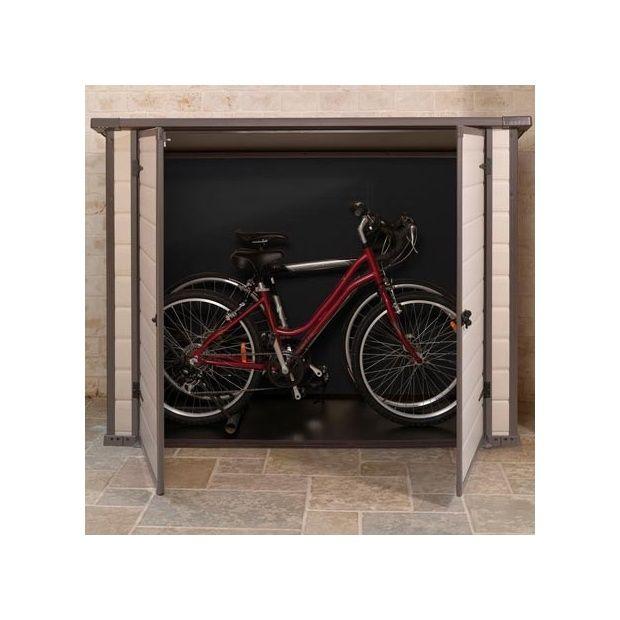 Remise de jardin adossée en résine - 200 x 90 cm - Bike & More 200 x ...