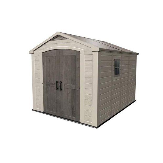 abri de jardin en r sine factor 811 8 5m2 3 colis 198. Black Bedroom Furniture Sets. Home Design Ideas