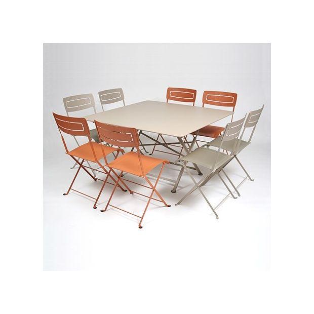 Salon de jardin fermob table l128 l128 cm 8 chaises gamm vert - Salon de jardin fermob ...