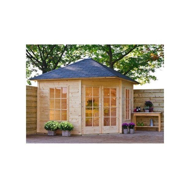 Abri de jardin d\'angle Jessica 8.25 m² - bois 21 mm - avec ...