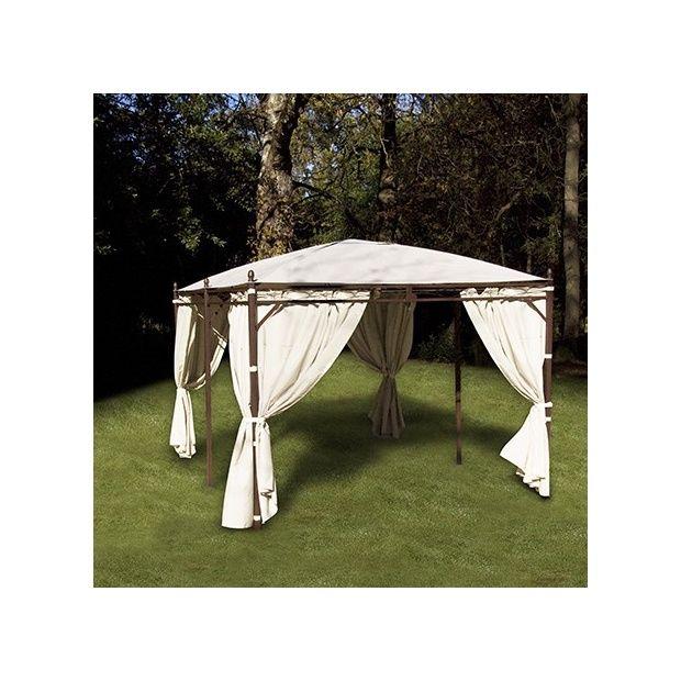 tonnelle de jardin vision 4 pentes 3x4 en acier galvanise carton gamm vert. Black Bedroom Furniture Sets. Home Design Ideas