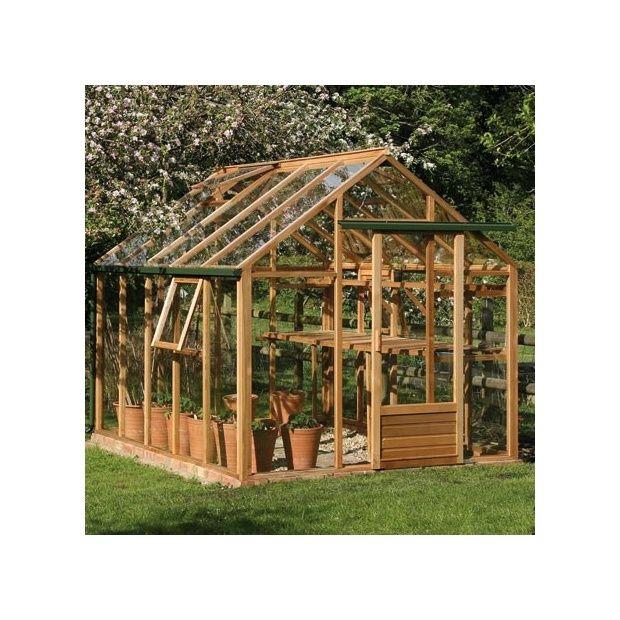 Serre de jardin en bois et verre trempé Classic 7 20 m²