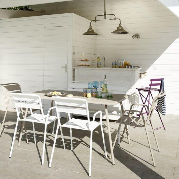 salon de jardin fermob monceau table l146 l80 cm 4 chaises 1 banc 1 carton 95 5 x 23 4 x. Black Bedroom Furniture Sets. Home Design Ideas