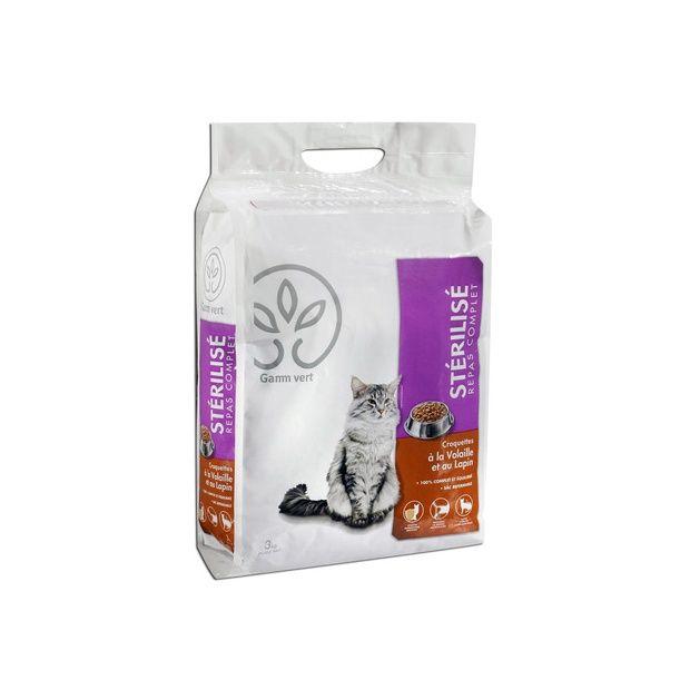 croquettes pour chat st rilis 3 kg sac en plastique refermable 26 5 x 37 5 x 12 5 cm gamm vert. Black Bedroom Furniture Sets. Home Design Ideas