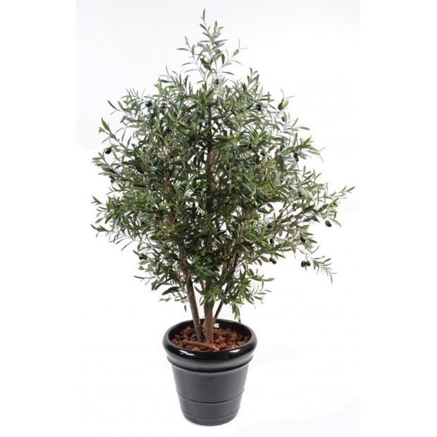 Olivier buisson h170 cm tronc naturel feuillage for Buisson synthetique