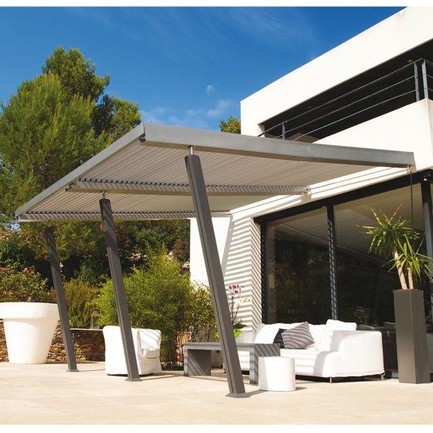 tonnelle adoss e aluminium 4x4 m lames orientables boston luxe carton gamm vert. Black Bedroom Furniture Sets. Home Design Ideas