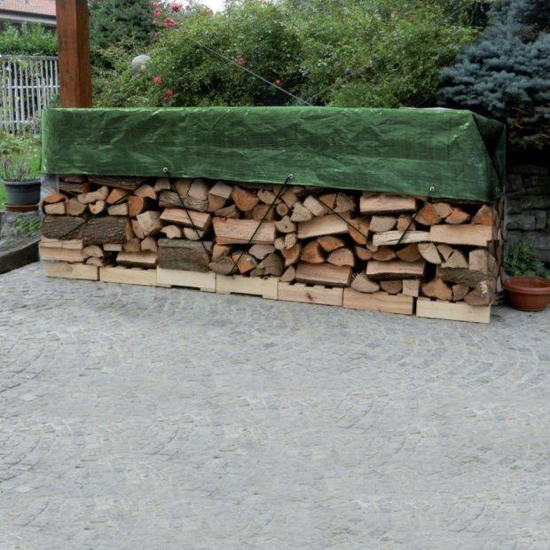 B che tas de bois 1 5x6 m avec oeillets gamm vert carton for Bache pour bassin exterieur gamm vert