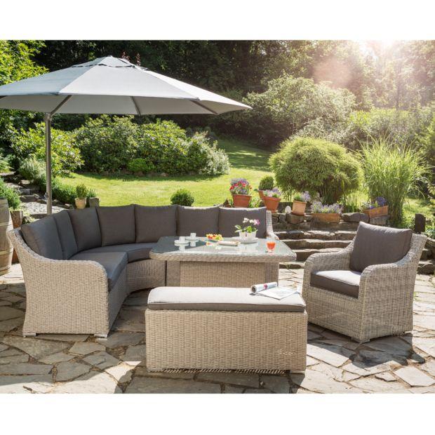 Salon de jardin r sine madrid kettler canap table fauteuil banc cartons gamm vert - Salon de jardin en teck gamm vert ...