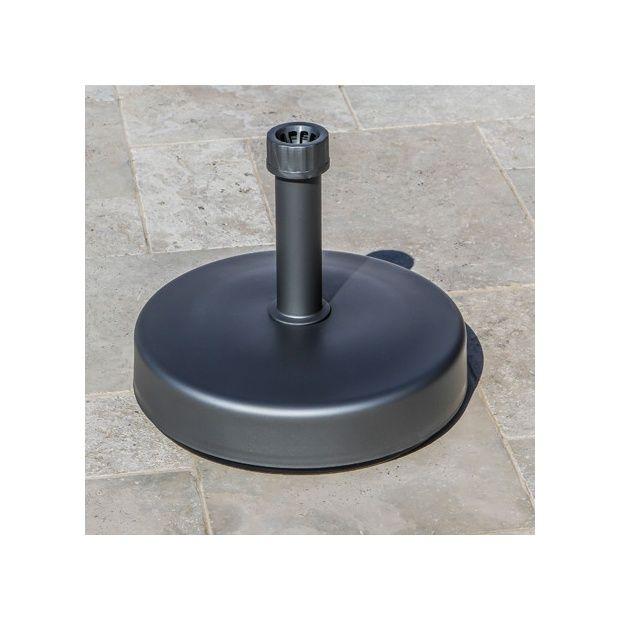 pied de parasol metal garo. Black Bedroom Furniture Sets. Home Design Ideas
