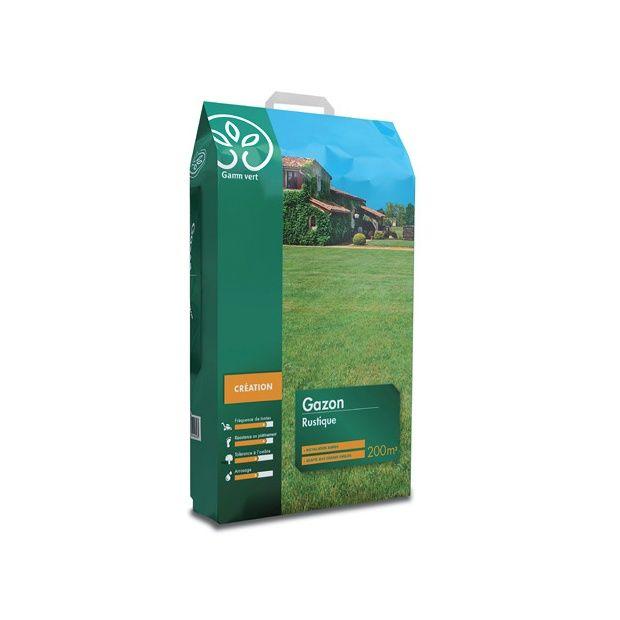 Gazon rustique 5 kg gamm vert sac de 5 kg gamm vert for Gazon artificiel gamm vert
