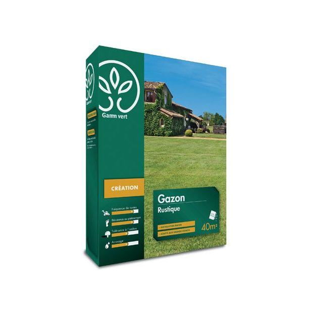 Gazon Rustique 1 Kg - Gamm vert Boite de 1 kg - Gamm Vert