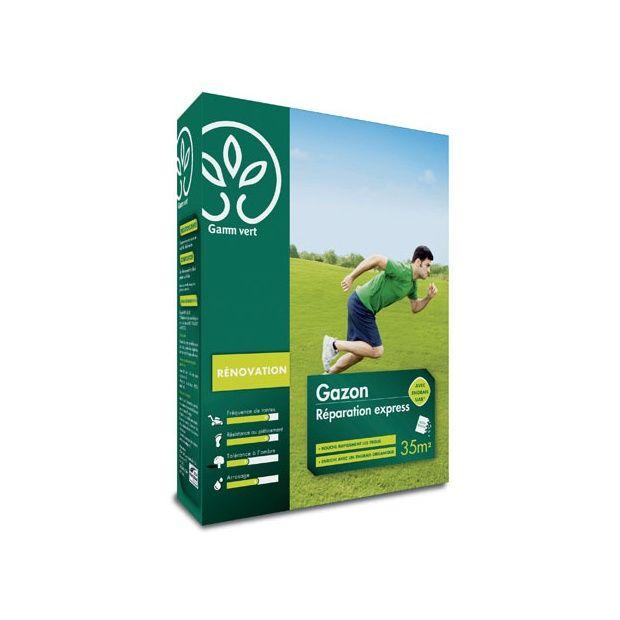 gazon r paration express 1kg avec engrais gamm vert boite de 1 kg gamm vert. Black Bedroom Furniture Sets. Home Design Ideas