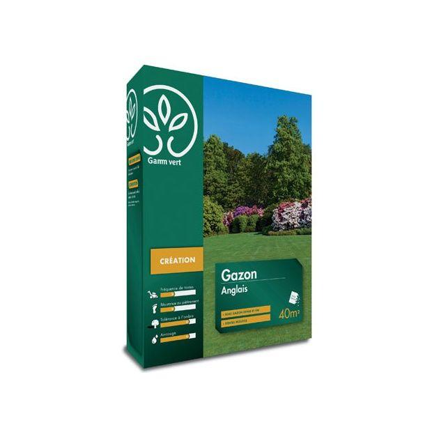 Gazon anglais 1 kg gamm vert boite de 1 kg gamm vert for Gazon artificiel gamm vert
