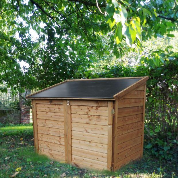 Coffre de jardin bois traité Trocadéro 1200L Colis : L.161 x l.121 x H.15 cm - Gamm Vert