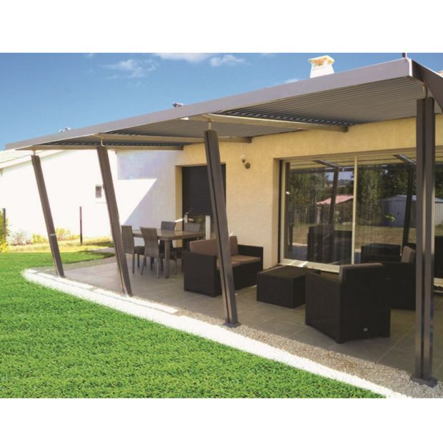 tonnelle adoss e aluminium 4x6 m lames orientables boston luxe gamm vert. Black Bedroom Furniture Sets. Home Design Ideas