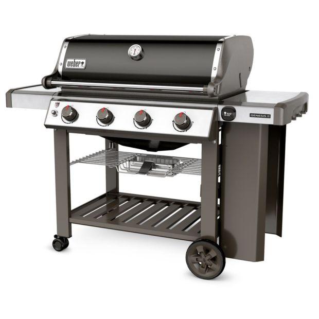 barbecue gaz weber genesis ii e 410 noir plancha offerte. Black Bedroom Furniture Sets. Home Design Ideas