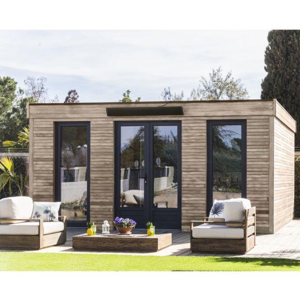 pi ce vivre au jardin bois toit plat 24 70 m ep 90 mm d cor home l4 95 x l1 17 x h2 24 m. Black Bedroom Furniture Sets. Home Design Ideas