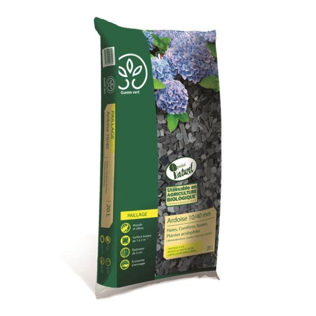 paillette ardoise 10 40 mm 20 l gamm vert 1 sac de 20 kg gamm vert. Black Bedroom Furniture Sets. Home Design Ideas