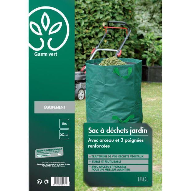 Sac à déchets 180 L - Gamm vert Pochette plastifiée - Gamm Vert