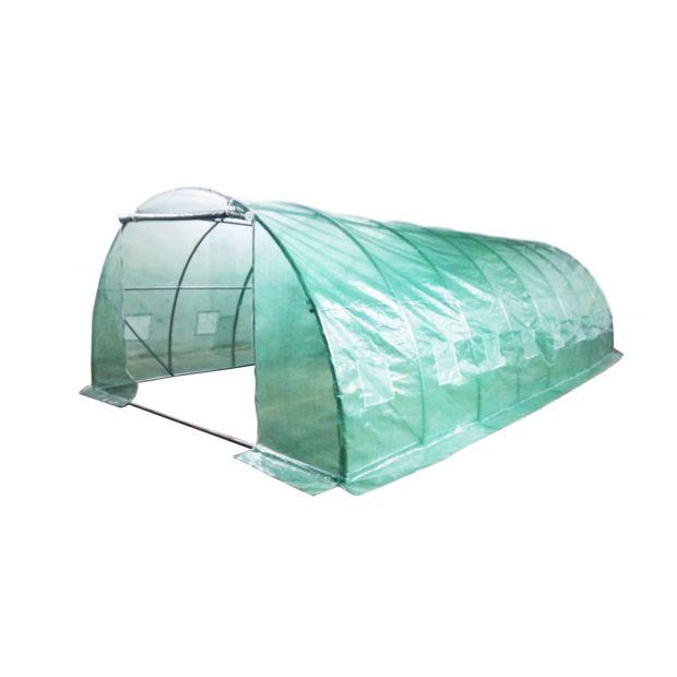 B che pour serre jardin tunnel 32 m habrita gamm vert for Bache plastique pour serre de jardin