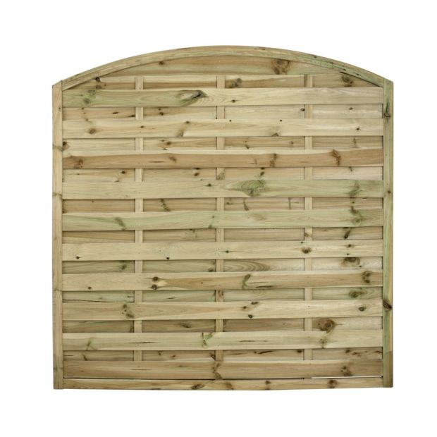 lot de 2 panneaux occultants arc bois trait autoclave l180 h180 cm gamm vert. Black Bedroom Furniture Sets. Home Design Ideas
